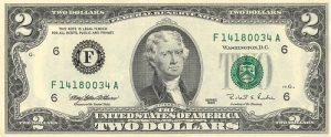 2 dolary amerykańskie