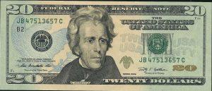 20 dolarów amerykańskich