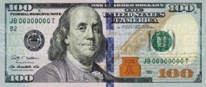 100 dolarów amerykańskich