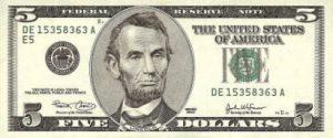 5 dolarów amerykańskich - banknot 3