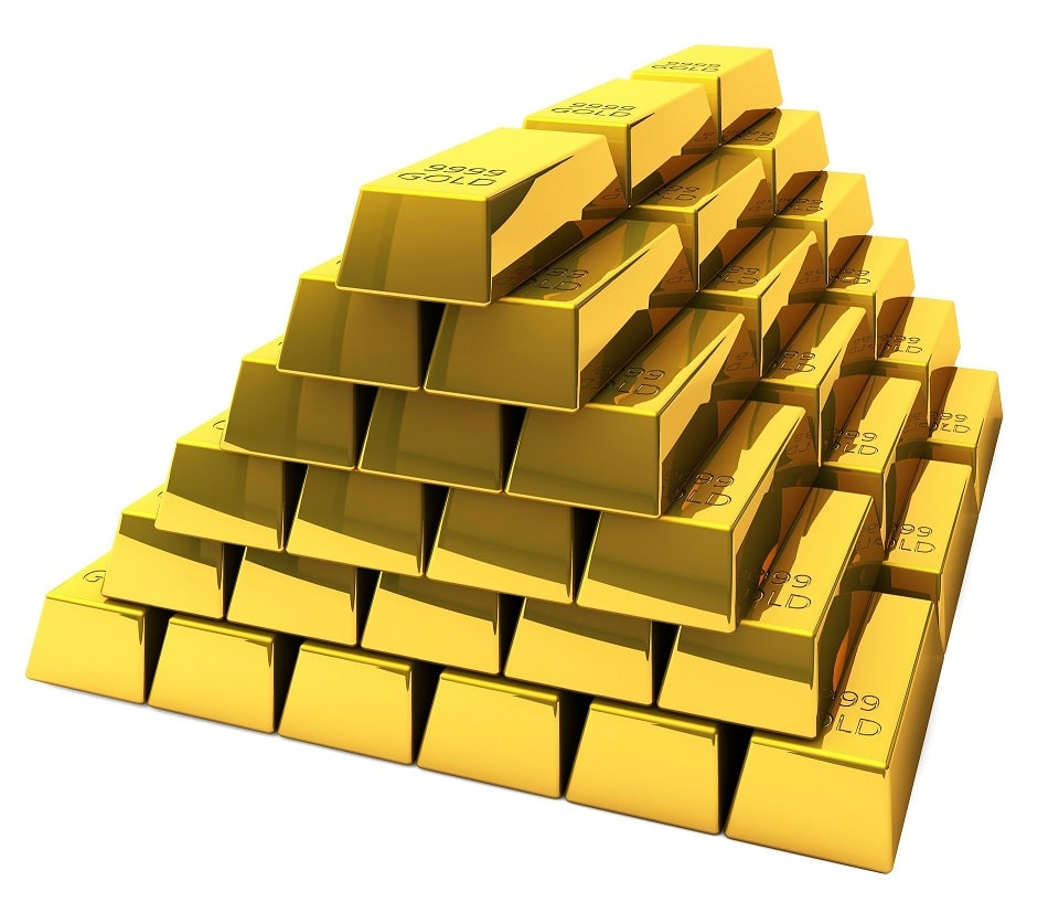 sztabki złota o masie 1 kg